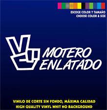MOTERO ENLATADO - Sticker Vinilo - Escoge color y tamaño - Pegatina - Coche Moto
