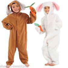 Infantil Blanco Marrón conejo Pascua Conejito Animal Disfraz