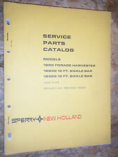 1975 New Holland Model 1880 Forage Harvester 1880 1890S Sickle Bar Parts Catalog