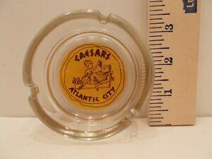 "Vintage Caesars Atlantic City New Jersey Casino 3.5"" Glass Ashtray"