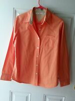 TOMMY HILFIGER WOMENS LONG SLEEVE SHIRT ORANGE SIZE M