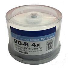 50 Traxdata Blu Ray 4x RITEK PRO Inkjet Printable blank discs BDR BD-R 25GB