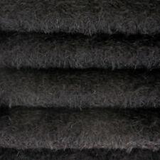 "1/6 yd 300S/CM Black INTERCAL 1/2"" Ultra-Sparse Curly Matted Mohair Plush Fabric"
