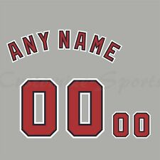 Béisbol Washington Nationals Road Gris Camiseta Personalizado Número De Kit sin costura