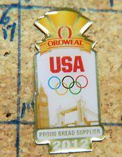 "2012 LONDON OLYMPICS USA BREAD SUPPLIER OROWEAT GOLDTONE METAL 1.25"" LAPEL PIN"