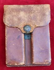 Vintage WWII Colt 1911 Gun Magazine Pouch Holster Leather Rock Island 1913 HEK
