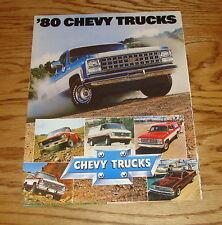 Original 1980 Chevrolet Truck Full Line Sales Brochure 80 Chevy El Camino Blazer