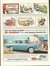 1959 Rambler American Station Wagon Auto Original Vintage Print Ad