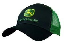 Genuine John Deere Mesh Trucker Cap Logo Black Green Baseball Hat MCDW080277BK