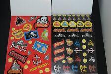 Pirate Skull & Crossbones Treasure Island pirates coin sticker book 204 stickers