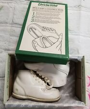 Vintage Stride Rite keepsake toddler baby wgite lace up shoes 3 1/2 -a7
