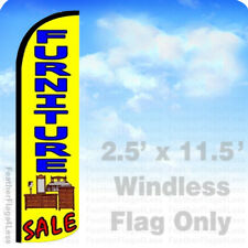 FURNITURE SALE - Windless Swooper Flag Feather Banner Sign 2.5'x11.5' yz