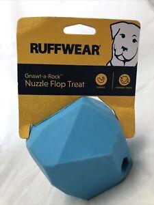 Ruffwear Metolius Blue Gnawt-a-Rock Nuzzle Flop Treat Dispensing Durable Dog Toy