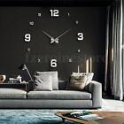 Impermeable Moderna DIY 3D Espejo Reloj de Pared Mirror Wall Clock Watch Sticker