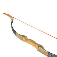 "Traditional 50"" Archery Recurve Bow Hunting Mongolia Longbow Right Hand Bow 30lb"