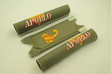 "Old school BMX 20"" Apollo Scorpion tampon set Gris Authentique MADE IN THE ANNÉES 80 NOS"