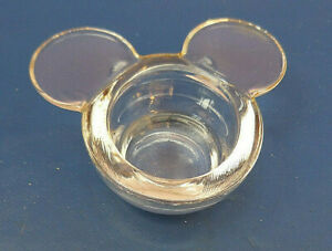 18253. Hübscher Teelichthalter    Glas   Micky Maus   klar