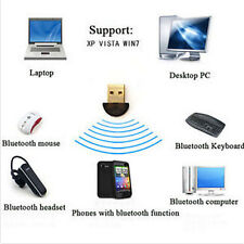 USB 2.0 Bluetooth Connector Dongle CSR4.0 Adapter for PC LAPTOP WIN 7 8 10 XP