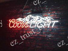 "Rare New Coors Light Mountain Beer Light Lamp Bar Neon Sign 20"" HD Vivid"