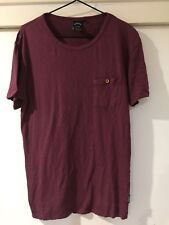 Ghanda United Mens Burgundy T Shirt Coloured Dots Size S Good Condition