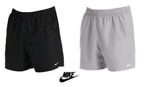 "Mens Nike Volley 5"" Swimming Swim Pool Beach Board Short Shorts Black Grey"