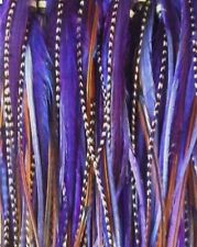 "*SALE* 30pcs. (Purple) Long 8""-13"" Feather Hair Extension, Whiting Farm, DIY Kit"