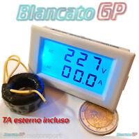 2IN1 AMPEROMETRO VOLTMETRO DIGITALE AC 80-300V 0-50A LED TA SPLIT 220V pannello