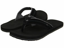 Reef Men's Kingsultan King Sultan Sandals Flip Flops Black Suede Size 4 US
