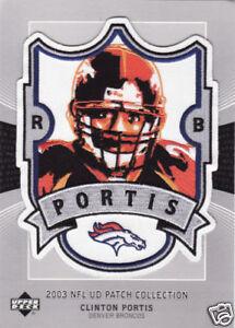 2003 CLINTON PORTIS DENVER BRONCOS UPPER DECK NFL PATCH