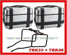 COPPIA VALIGIE GIVI LATERALI TRK33 + TRK46 + TELAIO SUZUKI DL 650 V-STROM PL532