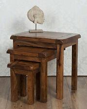 Valencia Nest of Tables Dark Solid Sheesham FAO Gillys2012