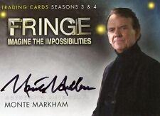FRINGE - SEASON 3&4 -MOMTE MARKHAM AUTOGRAPH CARD - A-18