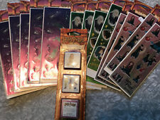Lot Of 13 Harry Potter Stickers All Night Media New In Packaging & Rubber Stamps
