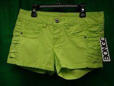 Bongo Bright green Denium Shorts With Belt New With Tag. Sz.7 short shorts NWT