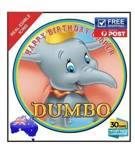 DUMBO Personalised Premium Edible Icing Sheet Cake Decoration Topper Image 19cm