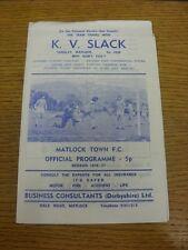 1976/1977 Derbyshire Senior Cup Final: Matlock Town v New Mills  . Bobfrankandel