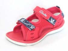 "Clarks Boys ""PIRANHA BOY"" textile red sandals size 9.5F.New"