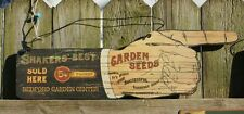 Shakers Best Garden Seeds Sold Here Wood Sign General Store Seed Plants Pointer