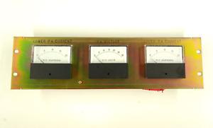 GE Mastr II voltmeter + ammeter panel 19 inch rack mount for power amp
