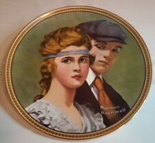"""Vintage Norman Rockwell """"Meeting on Path"""" Collector Plate by Knowles"""