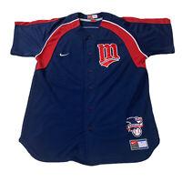 Joe Mauer Nike Team Stitched Official Jersey Minnesota Twins Men's Sz Small
