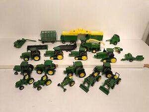 Ertl 1/64 John Deere 13x tractors 9x Implements Huge Lot farm equipment