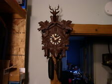 Just Restored~Schatz KU 50~8 Day Cuckoo Clock~Ca. 1950s~Hunter Style~Runs Great~