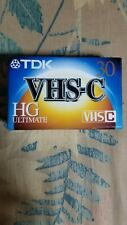 TDK VHS-C 30 HG Ultimate SEALED