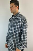 Orvis Mens Large L Plaid Check Long Sleeve Button Down Pocket Multicolor Shirt
