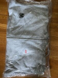 🔥Supreme Small Box Logo Zip Up Hoodie M Grey 100% Authentic 💵