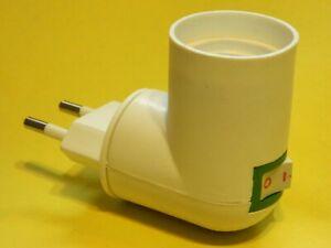 E27 Lampenfassung mit Schalter drehbar Adapter Stecker Lampensockel Fassung DHL