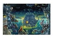 NIGHT TRAWLERS II ~ SURREAL MARINE LIFE ~ 24x36 FANTASY ART POSTER ~ NEW/ROLLED!