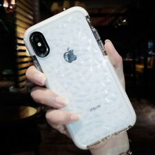 For iPhone XS Max XR X 8 7 Plus Crystal Glitter Rubber TPU Clear Soft Case Cover