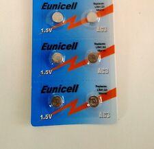 EUNICELL - 6 Piles Bouton  AG3/392/LR41/SR41SW